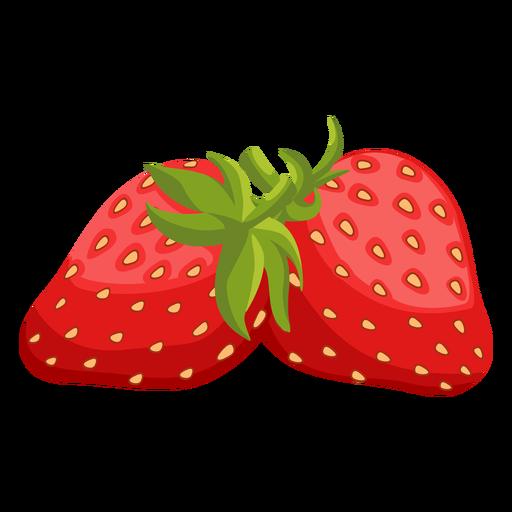 Two strawberries illustration