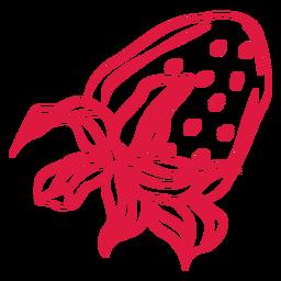 Doodle de fresa al revés