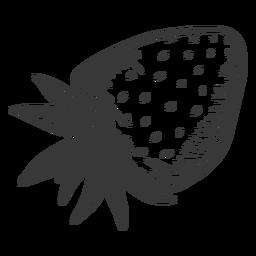 Dibujado a mano fresa boca abajo