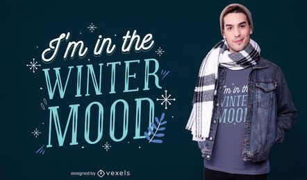Winter mood t-shirt design