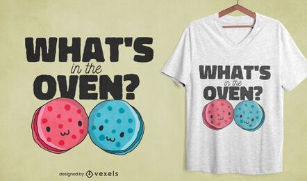 Diseño de camiseta de galletas de género.