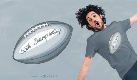 Football 55th championship t-shirt design