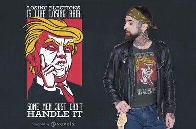 Diseño de camiseta Trump Hair