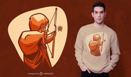 Diseño de camiseta arquero arco