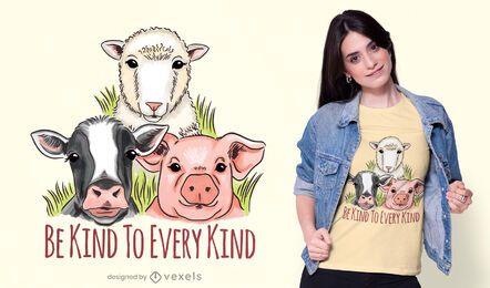 Diseño de camiseta de bondad vegana