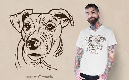 Diseño de camiseta de Jack Russell Terrier