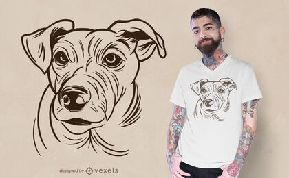 Jack Russell Terrier t-shirt design