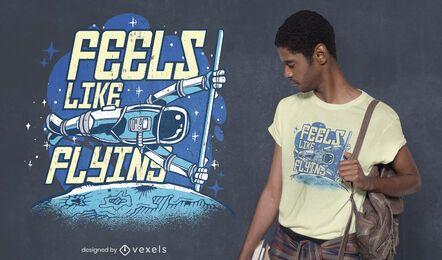 Fühlt sich an wie fliegendes T-Shirt Design