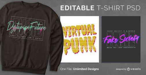 Cyberpunk scalable t-shirt psd