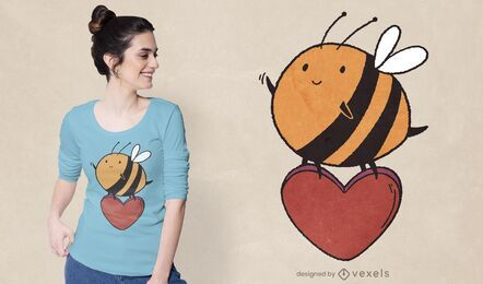 Cute bee t-shirt design