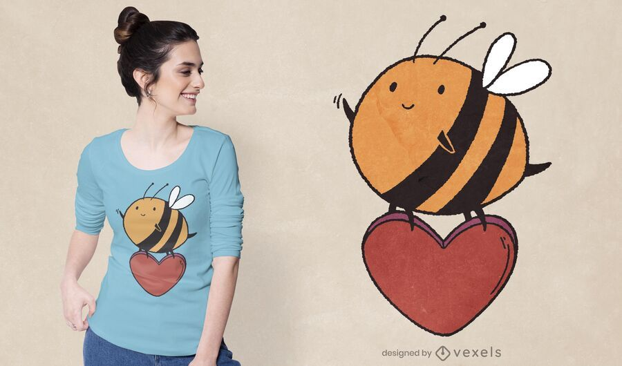Cute bee t-shirt design