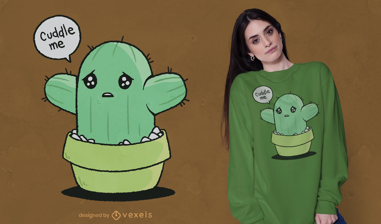 Cactus cuddle t-shirt design