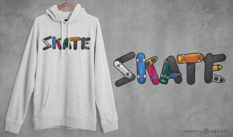 Skate Zitat T-Shirt Design