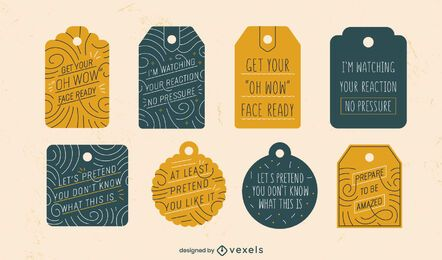 Funny gift tags set