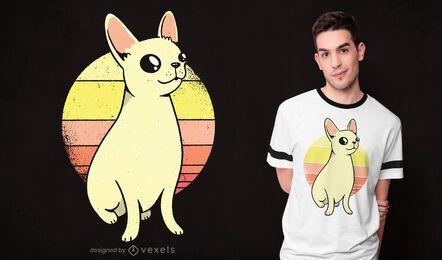 Diseño de camiseta chihuahua sunset