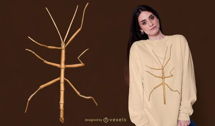 Design de camiseta inseto bicho-pau