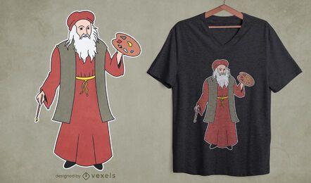 Design de camisetas Da Vinci