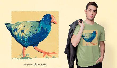 Takahe Vogel T-Shirt Design