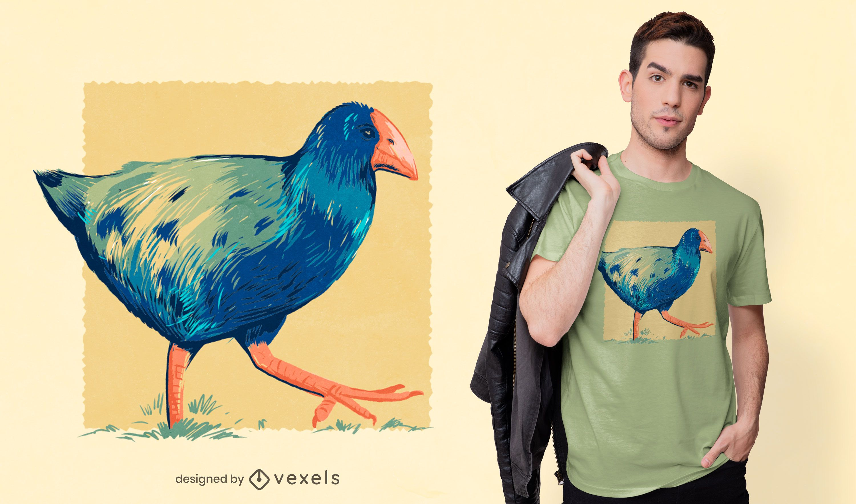 Takahe bird t-shirt design