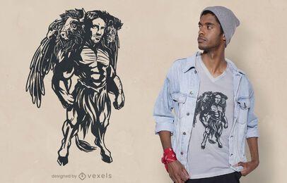 Diseño de camiseta de querubín