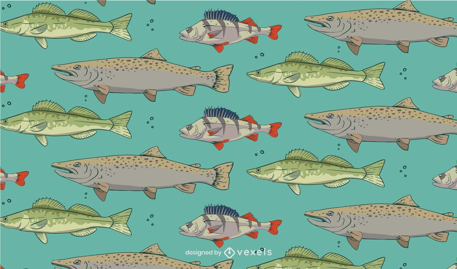 Fish species pattern design