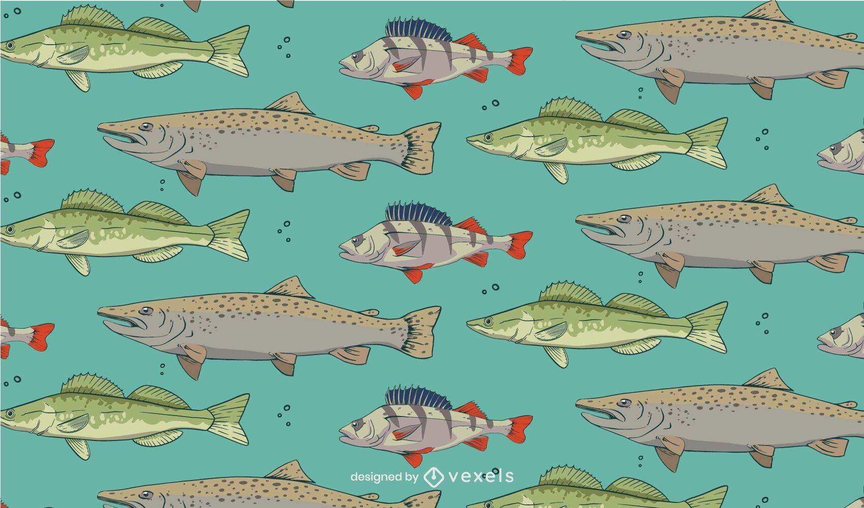 Diseño de patrón de especies de peces