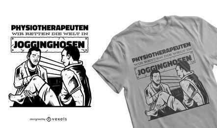 Physiotherapeuten retten das weltweite T-Shirt-Design