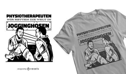 Physiotherapists save the world t-shirt design