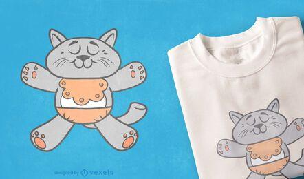 Diseño de camiseta de bebé gato