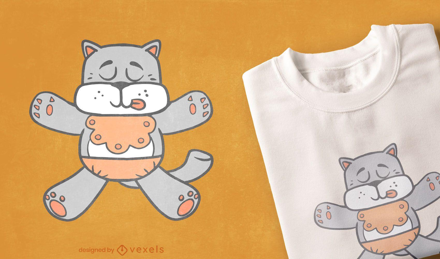 Design de t-shirt de cão para bebé