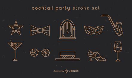Cocktailparty Strichset