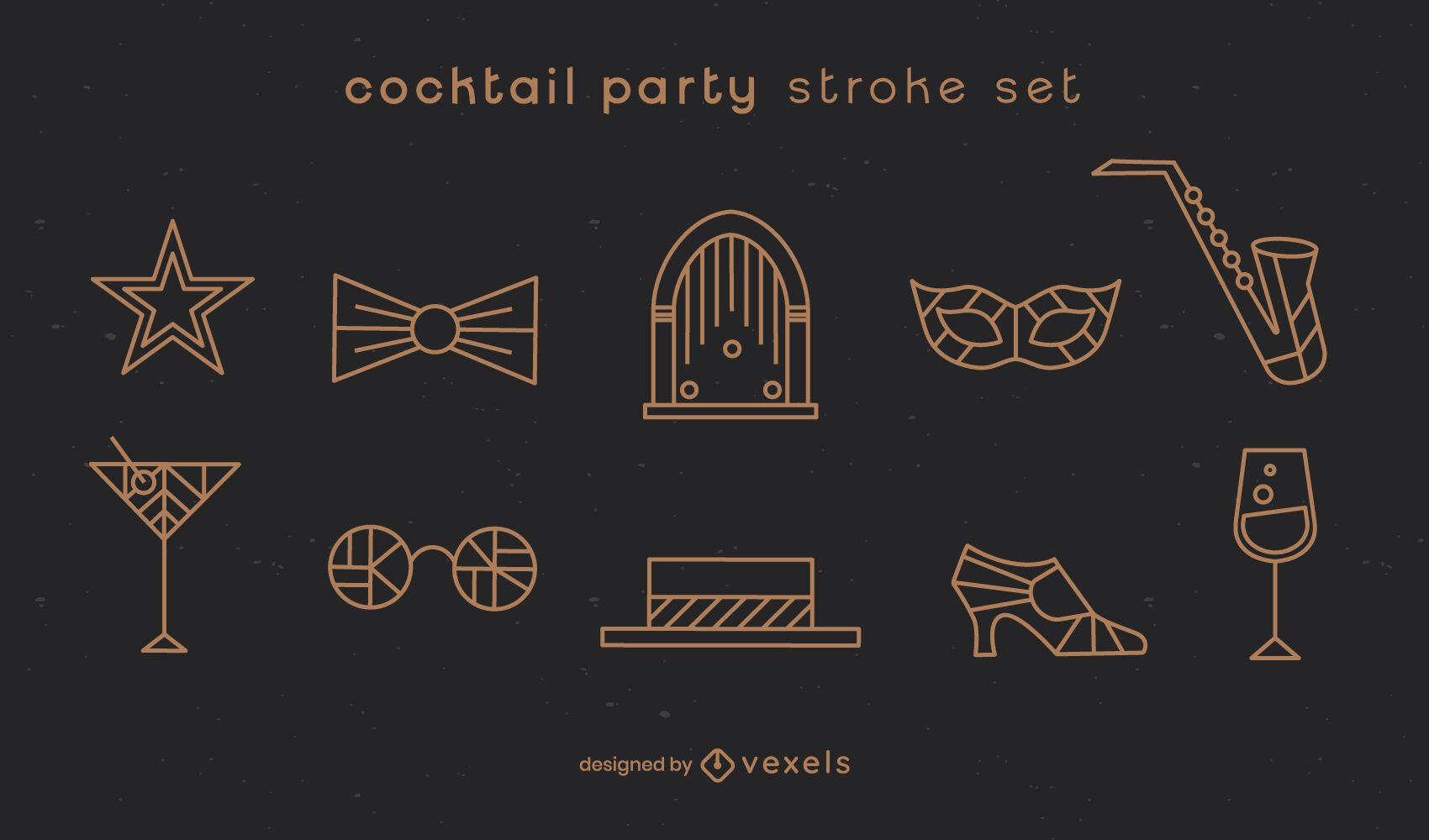 Cocktail party stroke set
