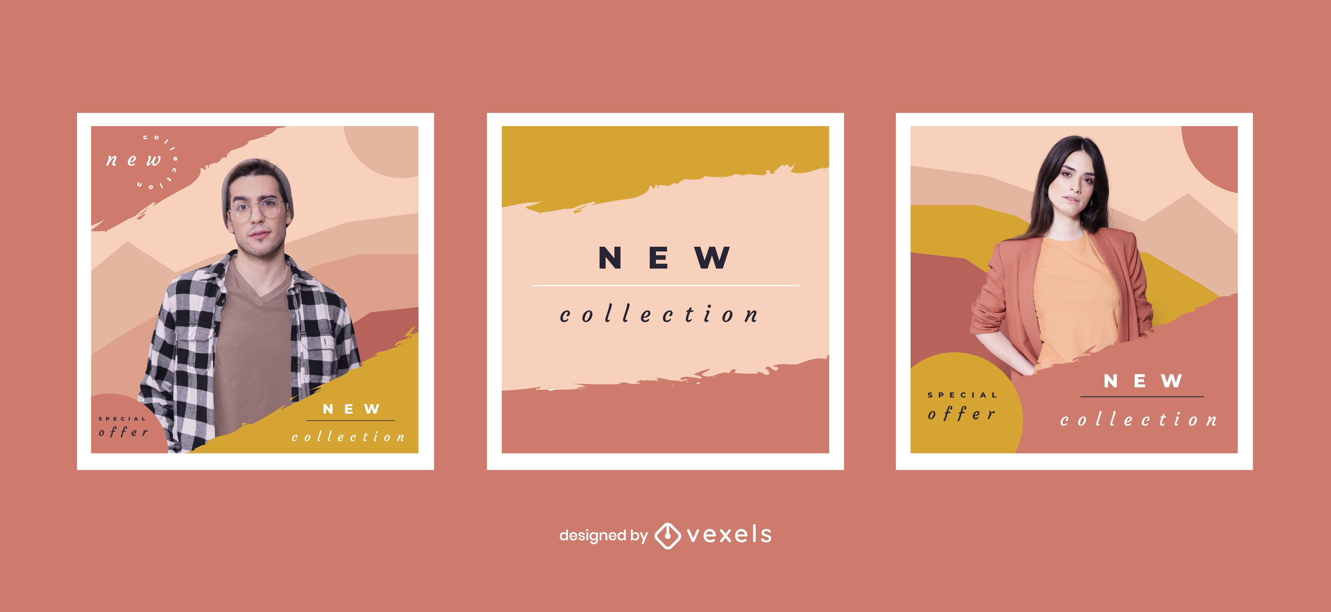 New collection social media post set