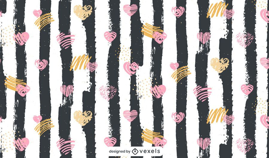 Valentine's Day doodles pattern