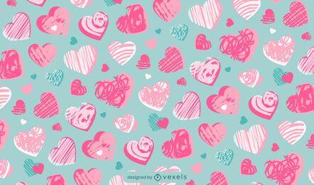 Herz-Valentinstag-Musterentwurf