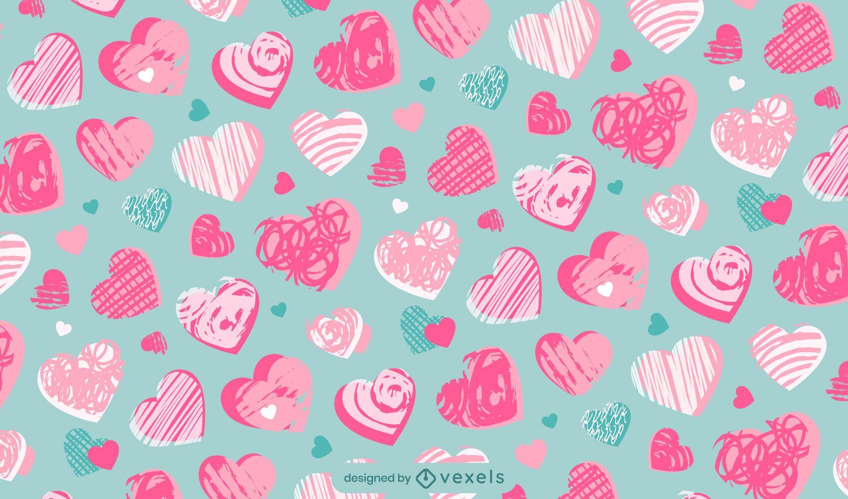 Diseño de patrón de corazón de San Valentín