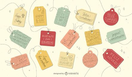 Gift tags languages set