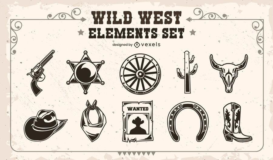 Wild West element set