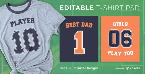 Football T-shirt PSD
