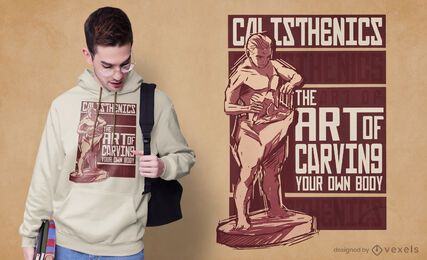Diseño de camiseta de calistenia