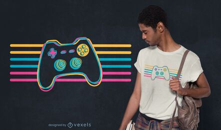 Retro joystick t-shirt design