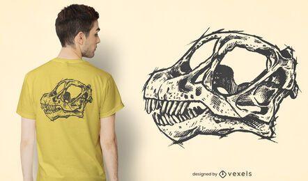 Camarasaurus skull t-shirt design