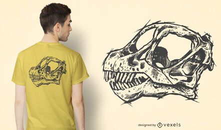 Diseño de camiseta de calavera de Camarasaurus