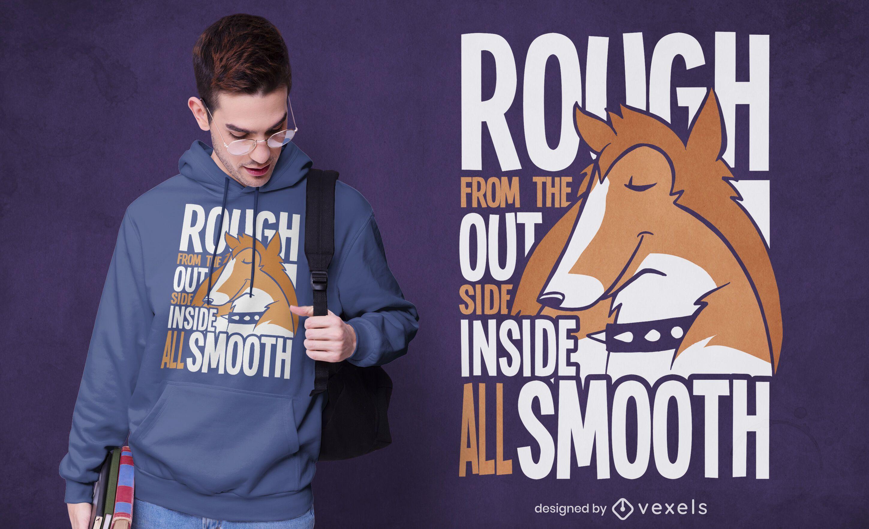 Collie quote t-shirt design
