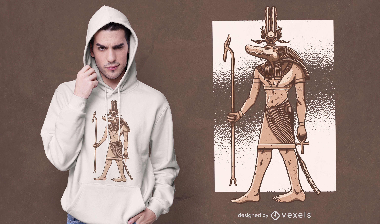 Diseño de camiseta egipcia sobek