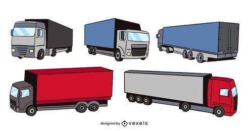 Diseño de escenografía de camiones alemanes