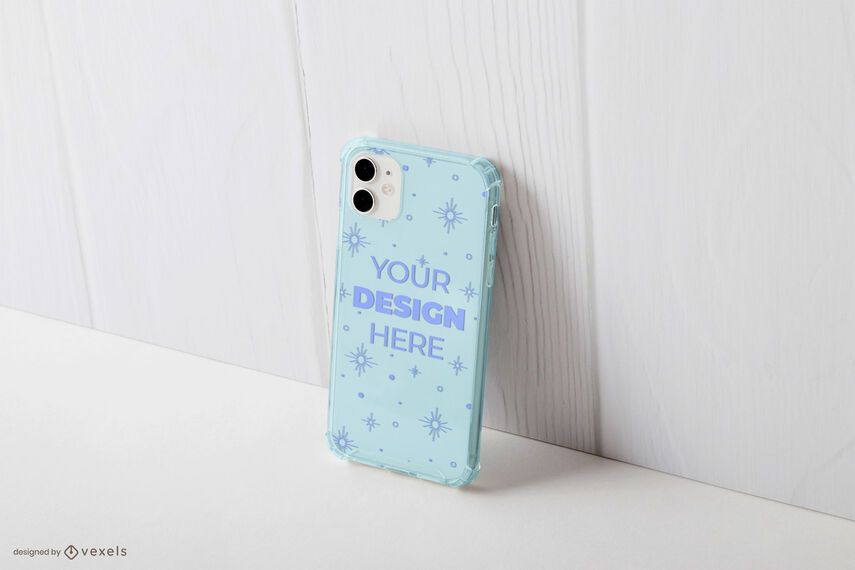 Phone case wall mockup