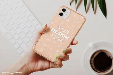Phone case keyboard mockup