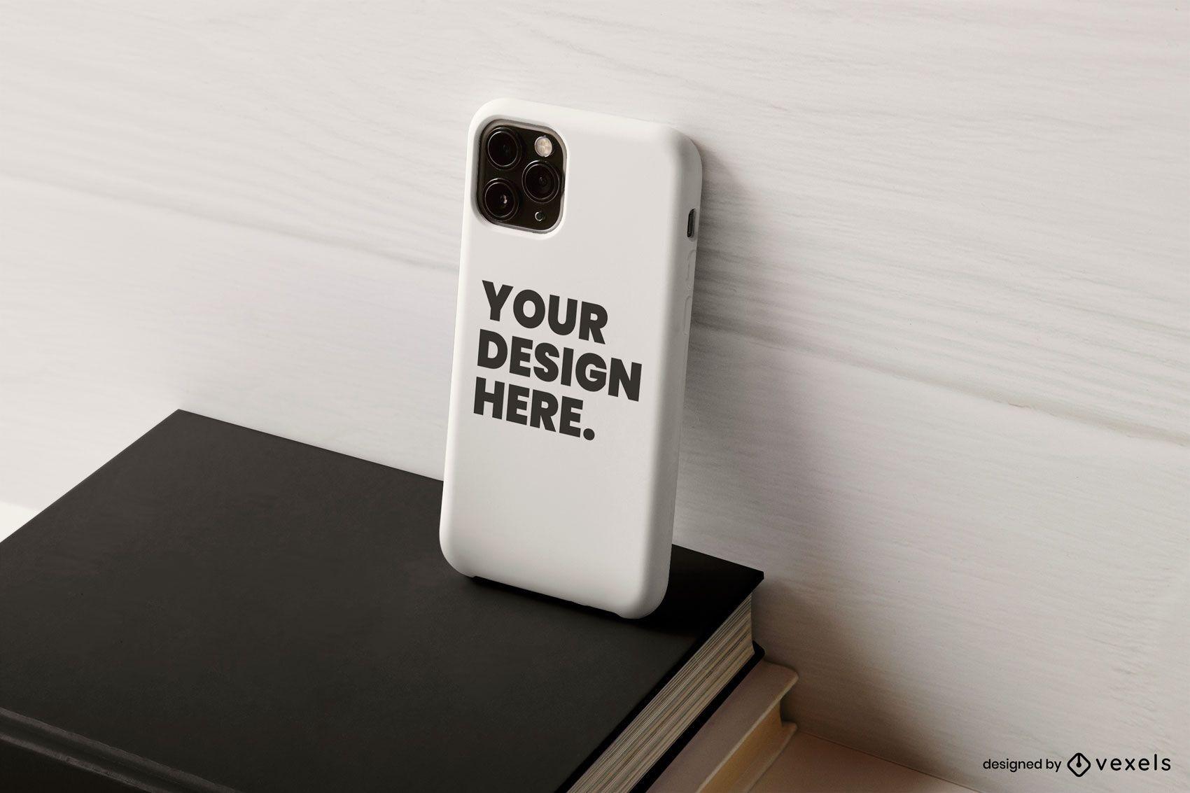 Phone case books mockup composition