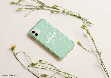 Telefon Fall gelbe Blumen Modell